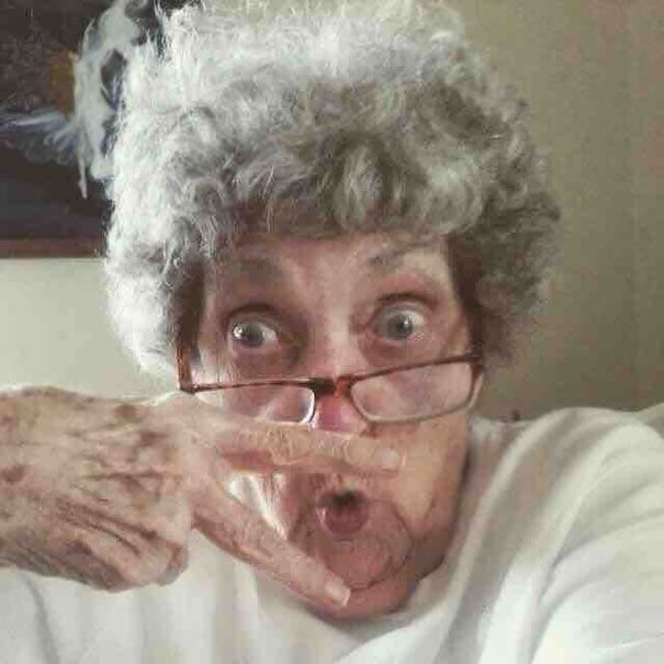 My Best Friend's Grandma (83-Year-Old) Made Herself A Profile In Facebook Today. This Is Her Profile Picture