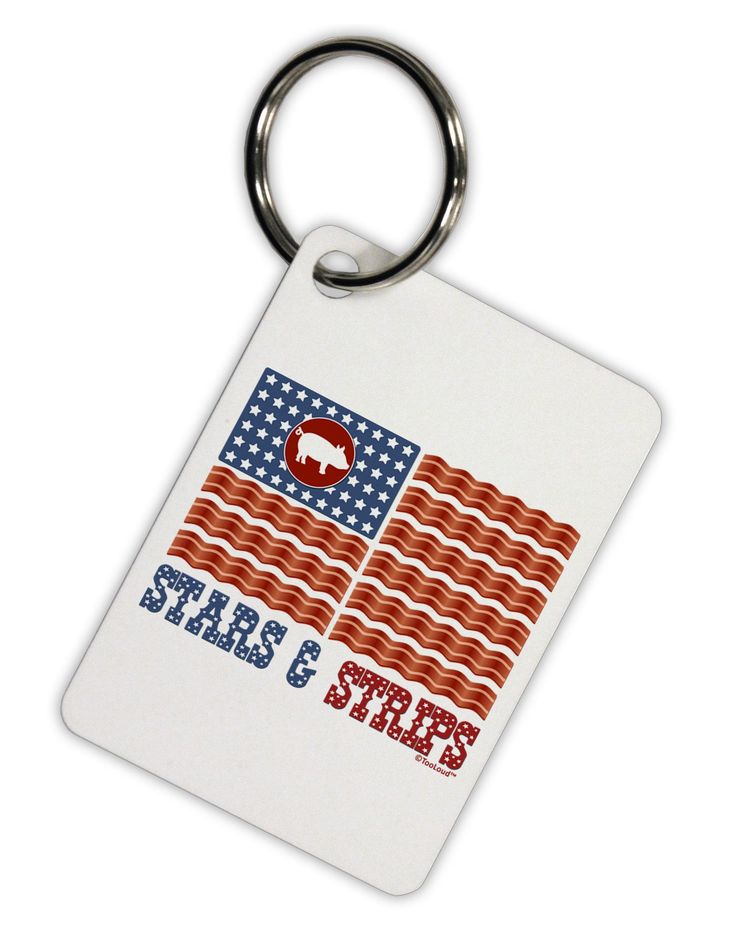 American Bacon Flag - Stars and Strips Aluminum Keyring Tag