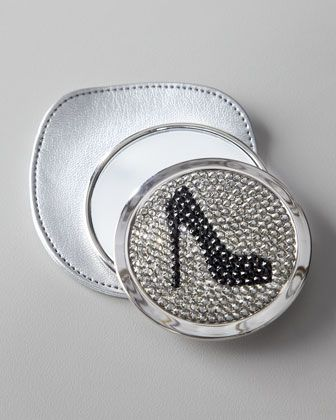 Mirror with Black Rhinestone Pump at Horchow.