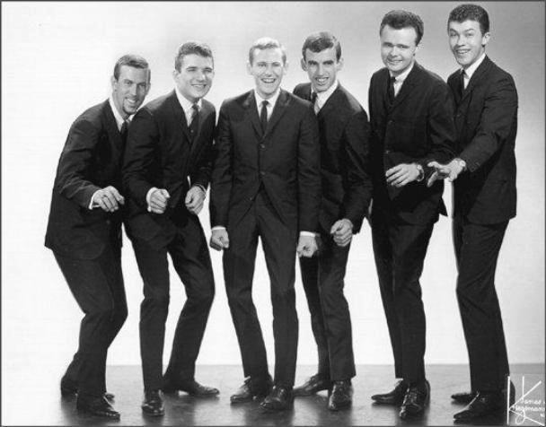 The Levon Helm Sextet in 1964, before becoming the Band in three years. Only Jerry Penfound, on the left, would be dropped. Includes Rick Danko, Levon Helm, Richard Manuel, Garth Hudson and Robbie Robertson.