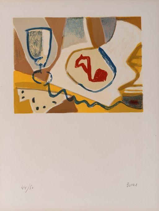 "Francisco Bores, (1898-1972) ""Composicion vaso plato"" Litografia 1960 #art #bores #dolorsjunyent"