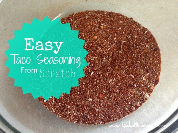 Taco seasoning made from scratch.  Less sodium and chemicals than the store bought stuff