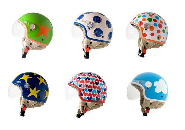 motorbikes helmets by Agatha Ruíz de la Prada