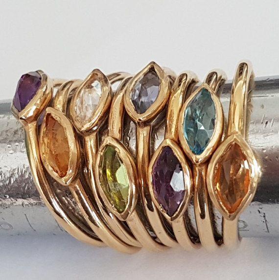 Marchesa anello anello di fidanzamento oro 14k di VenexiaJewelry