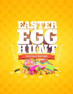 Spread The Word Around Town About The Upcoming Easter Egg Hunt At Your  Church With This