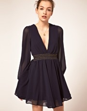 ASOS Party Dress With Glitter Trim