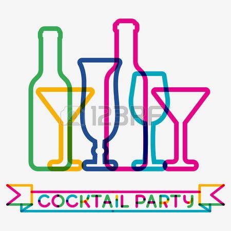 Astratto sfondo colorato bicchiere da cocktail. Concetto per il menu bar, partito, bevande alcoliche, vacanze celebrazione, carta dei vini. Design creativo incandescente. photo