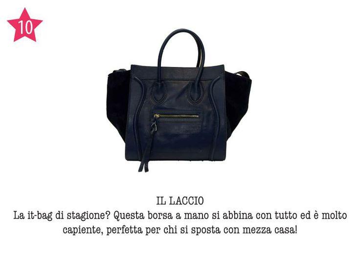 IL LACCIO - La it-bag di stagione? Questa borsa a mano abbina con tutto ed è molto capiente, perfetta per chi si sposta con mezza casa!
