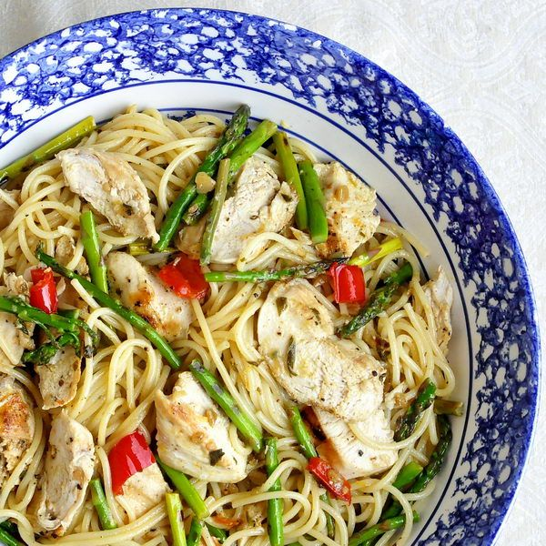 Lemon Chicken Asparagus Spaghetti - Since we posted it last year, this has become one of the most popular quick and easy meal ideas ever on RockRecipes.com. Try it and find out why.