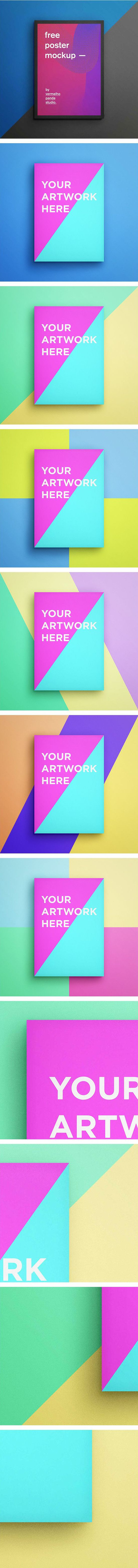 Free A3 and A4 Poster Mockup by Aline Jorge