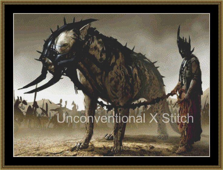 Uprising war beast cross stitch pattern - v2 by UnconventionalX on Etsy