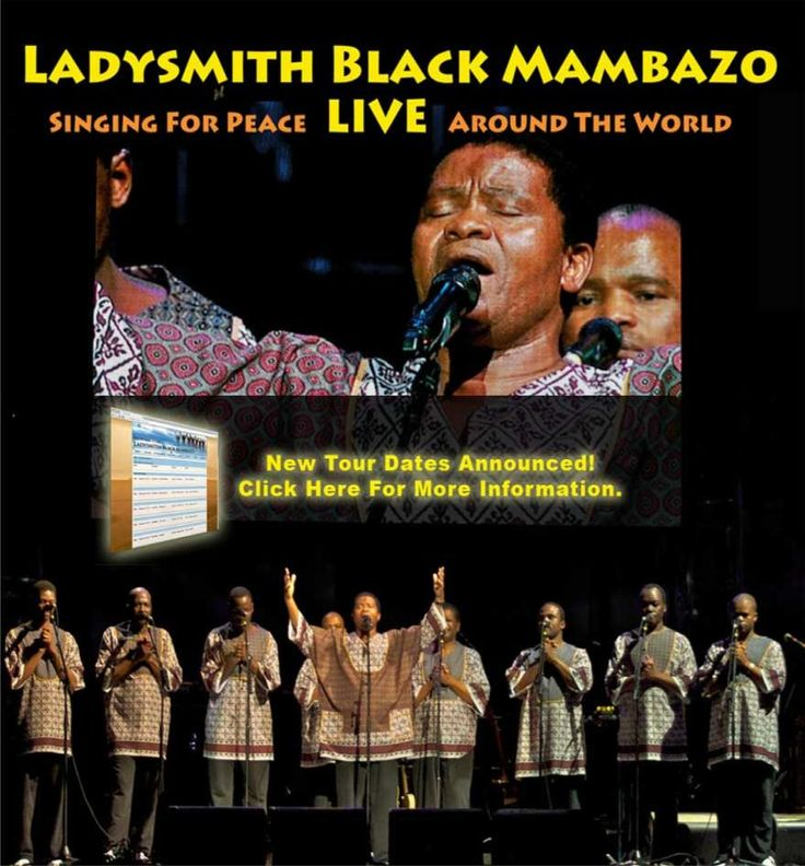 Ladysmith Black Mambazo,a male choral group from South Africa ...