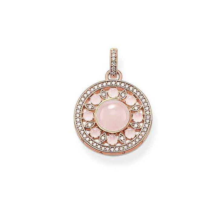 """THOMAS SABO """"Ornament"""" pendant from the Sterling Silver Collection."""