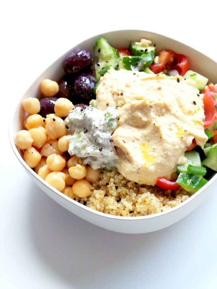 5 Minute Mediterranean Bowl Healthy Lunch Meal Prep