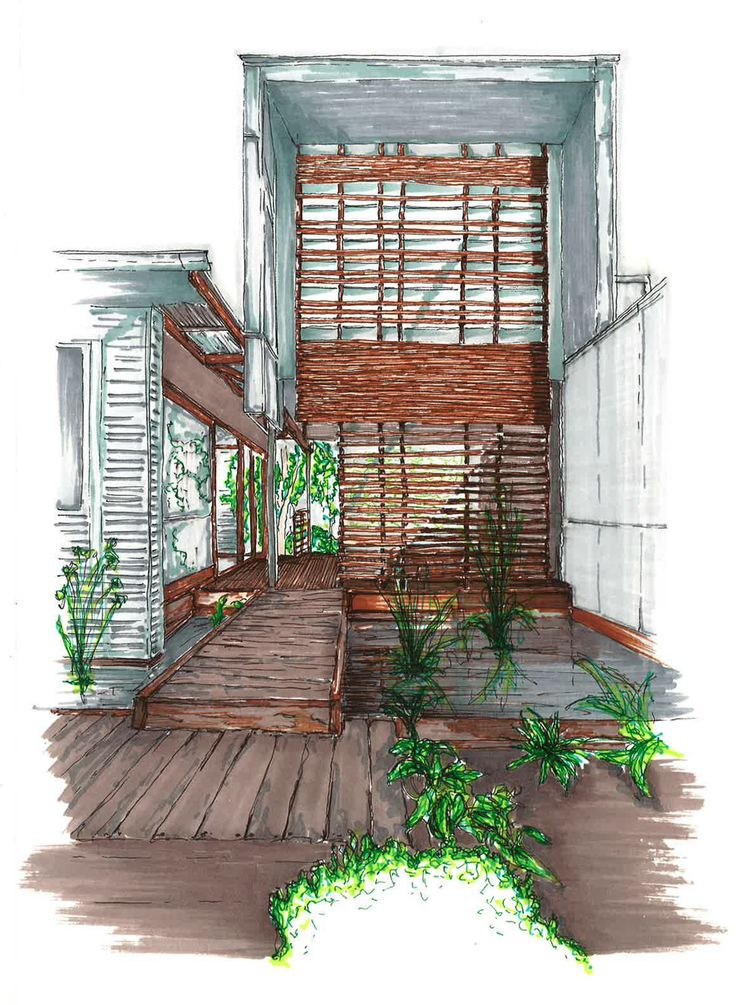 40 best architectural ink render drawings images on for Interior architectural columns