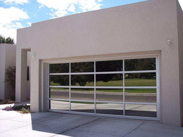 Clear Glass Garage Door