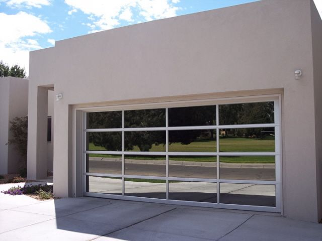 Garage Door Clopay Avante Clear Anodized Aluminum Frame