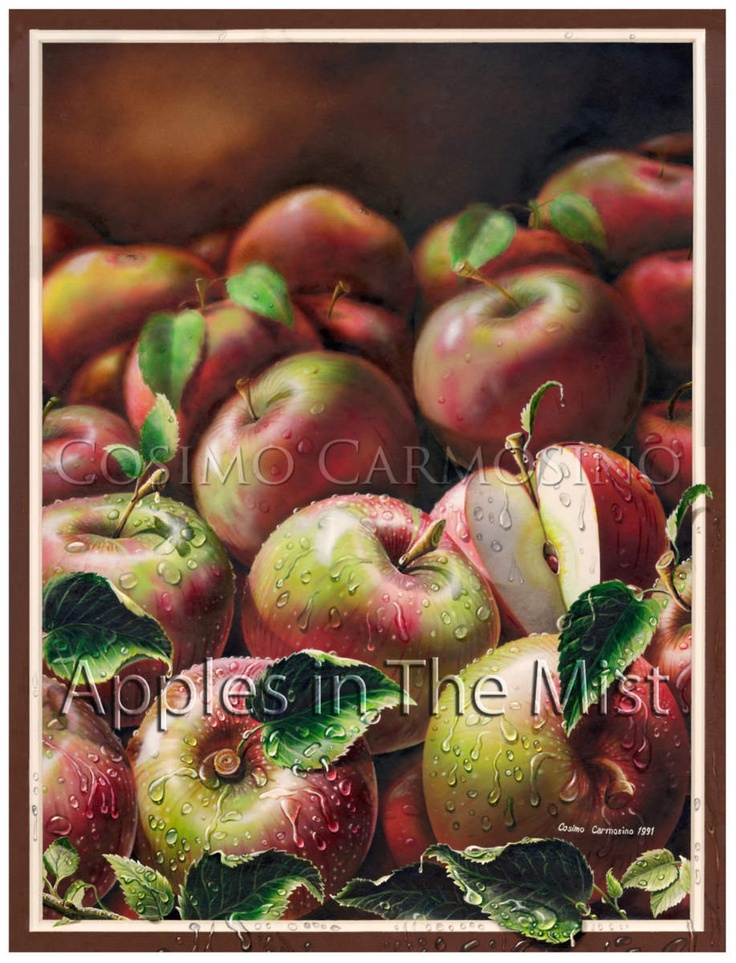 APPLES IN THE MIST_(Detail of a painting)  Artist: Cosimo Carmosino / Acr...  Credit: Cosimo Carmosino  (Click to Support Artist)