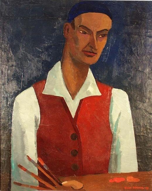 Einari Wehmas: Self-portrait, 1949
