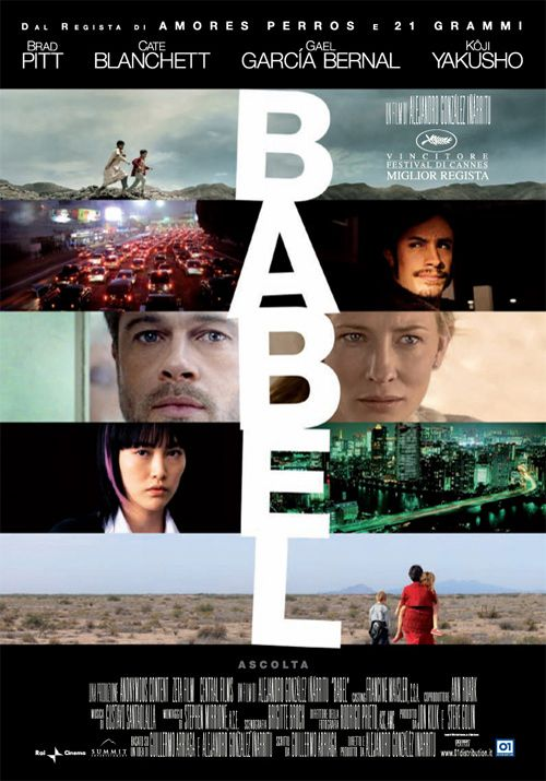 Babel - 01 Home Entertainment. Un film ad incastri dove si incrociano diverse zone del mondo ed altrettanto diverse storie di uomini e donne.