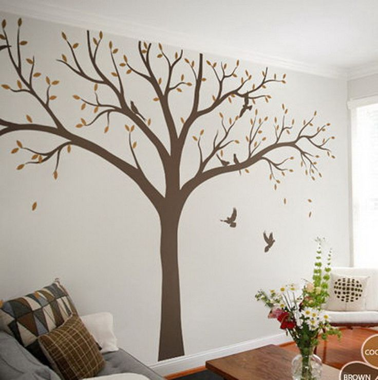 High 2.4m Giant Bird Baby Cot Side Tree Nursery Wall Decals Stickers Art Wall  Mural Home Decor Living Room Bedroom Part 68