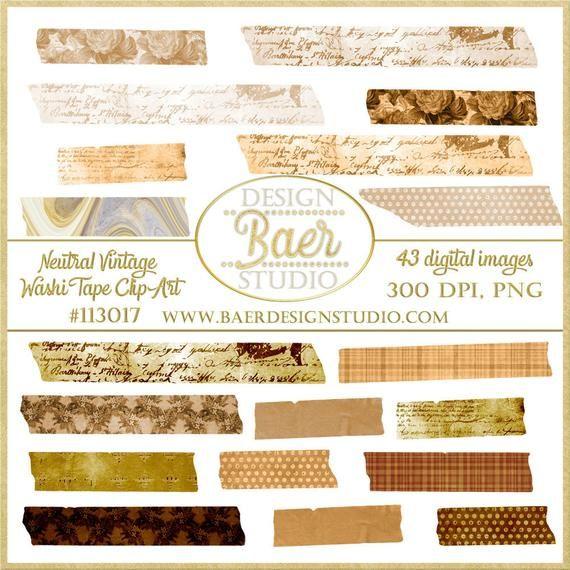 Digital Washi Tape Vintage Washi Tape Png Washi Tape Brown Etsy In 2021 Washi Tape Washi Digital Scrapbook Paper