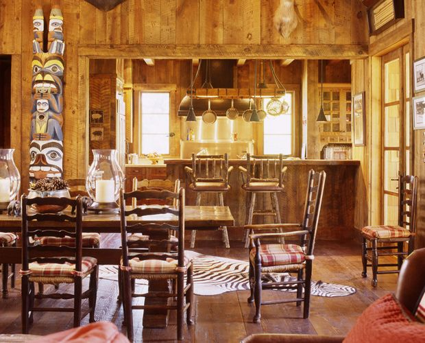 Rustic cabin interiors rustic dining room san francisco - Interior design jobs in charlotte nc ...
