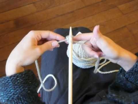 Cours de tricot 2 - montage normal des mailles
