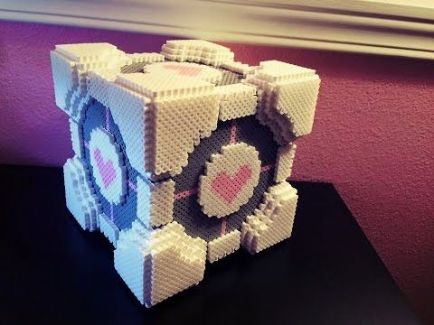 3D Portal Companion Cube Tissue Box Tutorial - YouTube