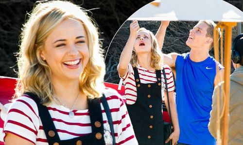 Home and Aways Raechelle Banno jokes with co-star Scott...
