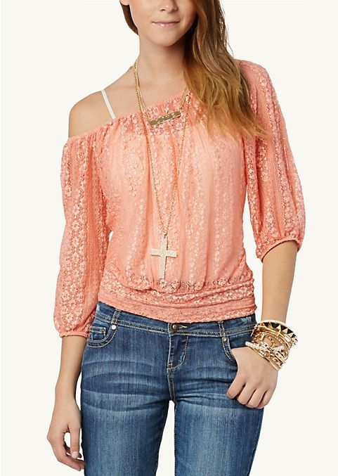 I ❤️ this outfit      Crochet Crop Peasant Top | Fashion | rue21