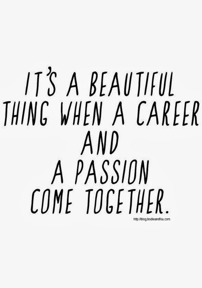 It's a beautiful thing when a career and a passion come together. #careerbydesign