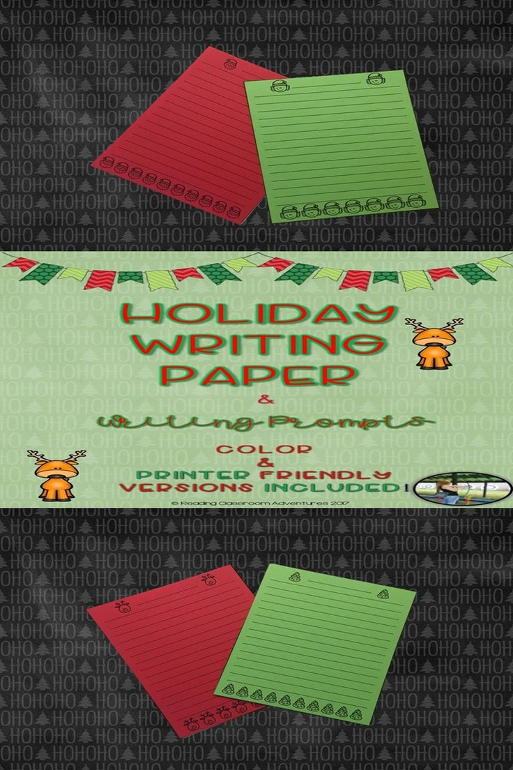 Holiday Writing Papers and Writing Prompts in 23 festive designs! Both color as well as black & white available!!