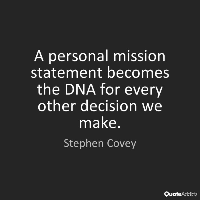 creating a personal mission statement covey Creating my personal mission statement was such a powerful exercise  self in this month's 3 takeaways post from stephen covey's best-selling book, the 7 habits of .