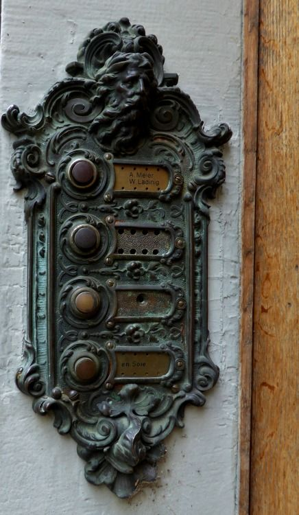 door buzzers...dating back to when everything was done beautifully rather than just functionally