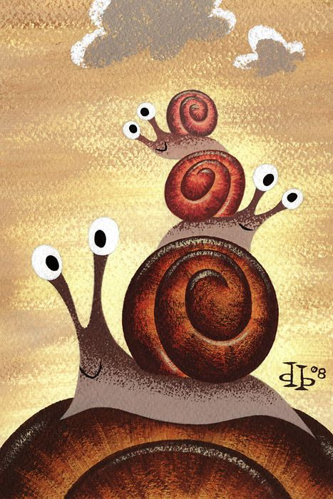 Drake Brodahl - inspiration for painted snails rocks