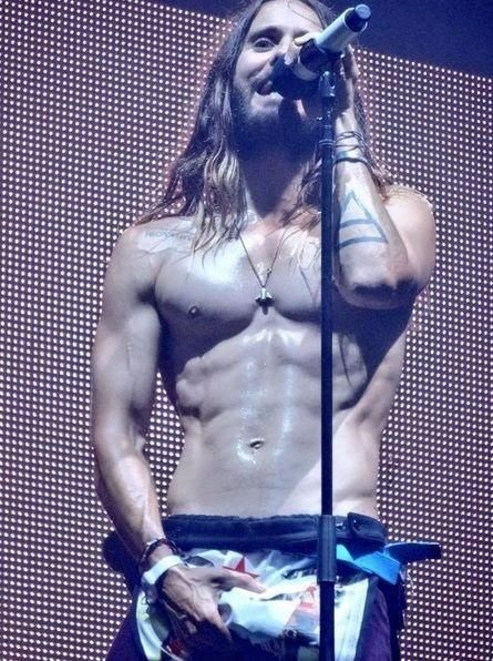 Jared Leto Grabbed His Crotch on Stage Again — This Time While Shirtless!