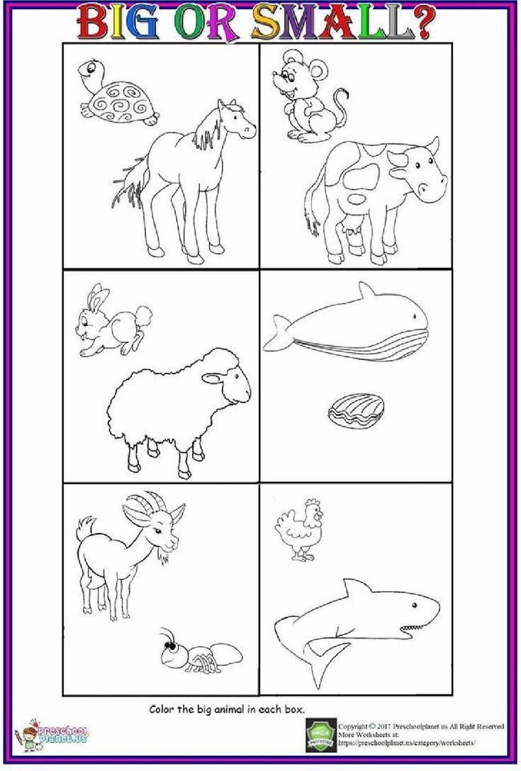Big or Small Worksheet For Kids 2019 #coloringsheet # ...