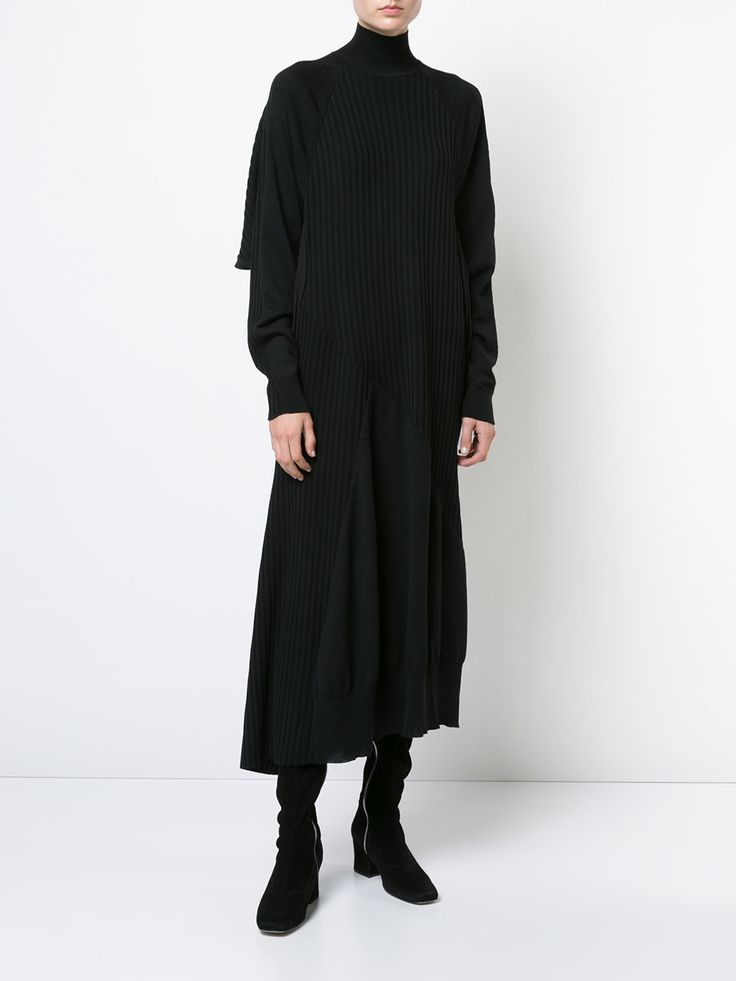 Jil Sander roll neck jumper dress