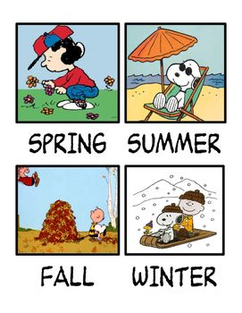 Peanuts Gang Seasons chart