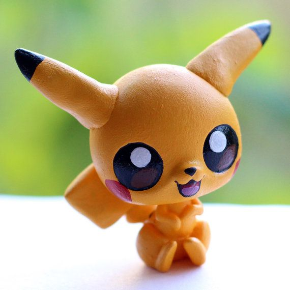 Pikachu Pokemon Littlest Pet Shop custom
