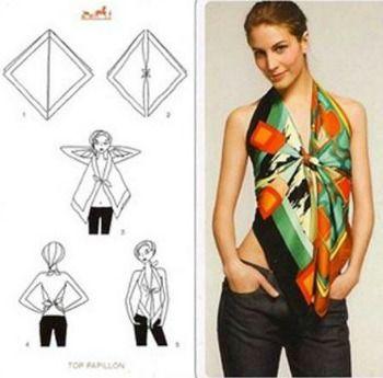 blusas feitas de lenço - Pesquisa Google
