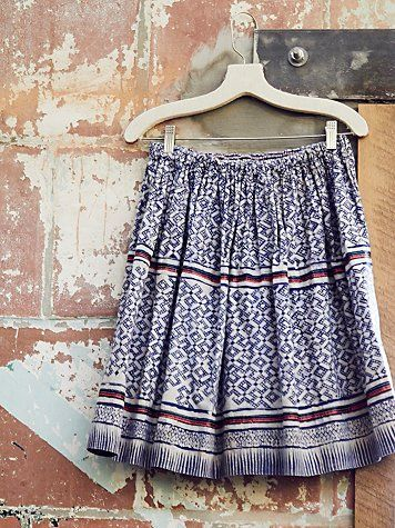 Free People Vintage 1970s Batik Skirt