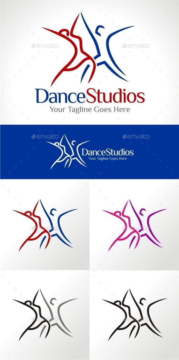Dance Studios Logo Design Template Vector #logotype ...