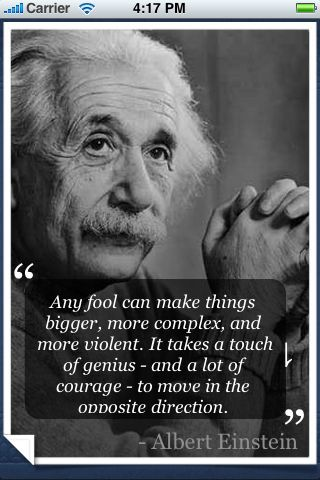 I wonder if he was thinking about government int he first half of this quote