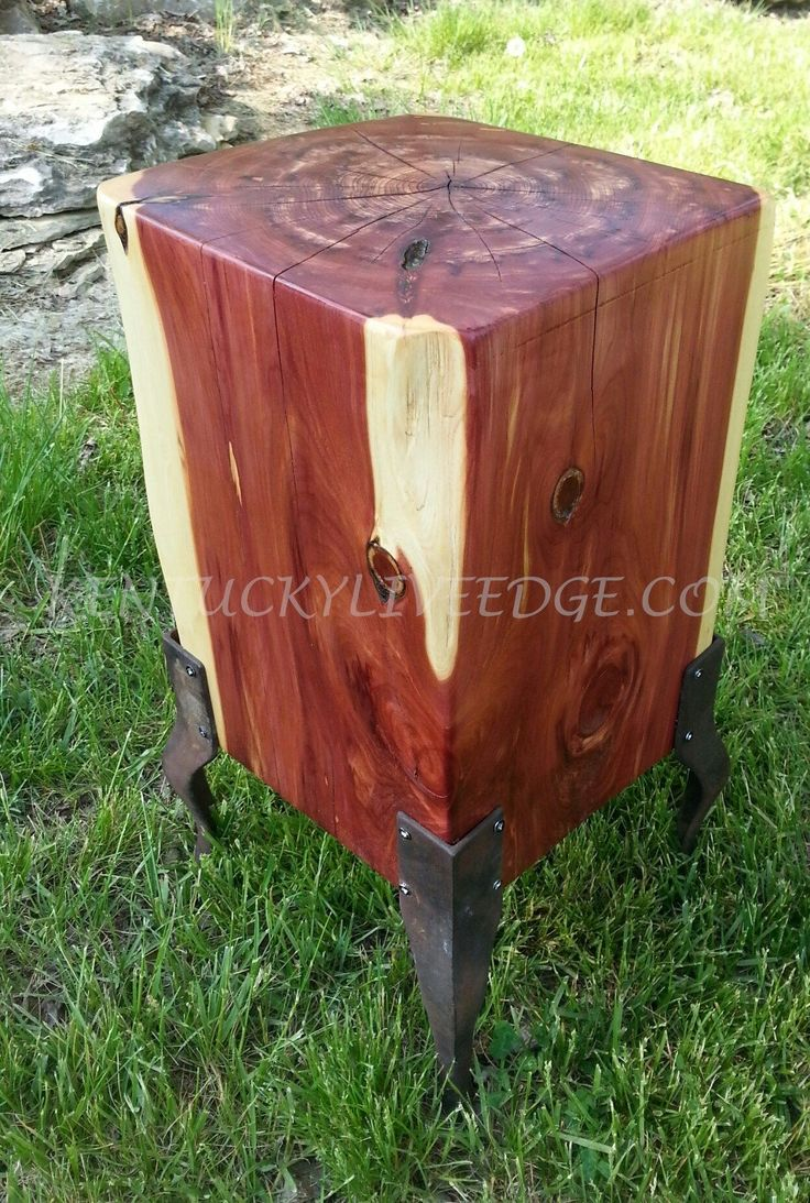 25 Best Ideas About Log End Tables On Pinterest Log