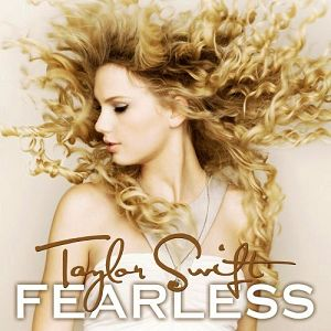 Taylor Swift 'Fearless' album I LIKE THE SUBTLETY OF COLOURS IN THIS ALBUM COVER AND THE USE OF TYPOGRAPHY CREATING A SENSE OF COMPLEMENT