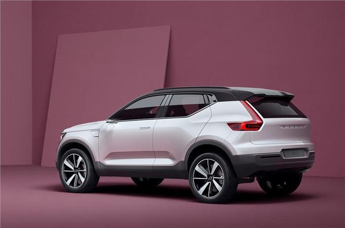 New Volvo 40.1 concept previews future Volvo SUV which will get hybrid powertrain. #volvo #autoupdates #news #conceptcars