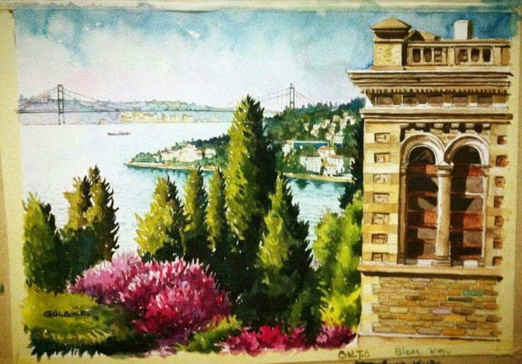 Bogazici university watercolor