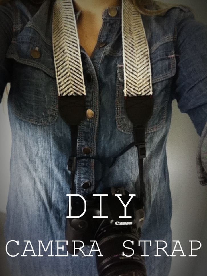 Check our this DIY camera strap! Fun and so easy!! No sewing machine. Hand sew tutorial with ribbon